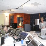 Gerdy van der Graaf in de studio